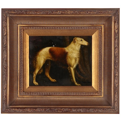 "Copy Oil Painting after ""Portrait of a Borzoi"""