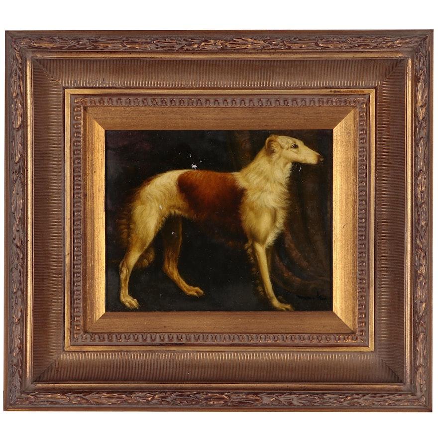 "Copy Oil Painting after ""Portrait of a Borzoi"""