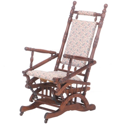 Victorian Oak Platform Rocker, Late 19th Century