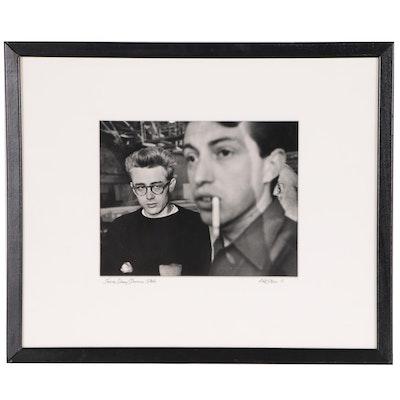 """Phil Stern Silver Gelatin Print """"James Dean/Dennis Stock"""""""