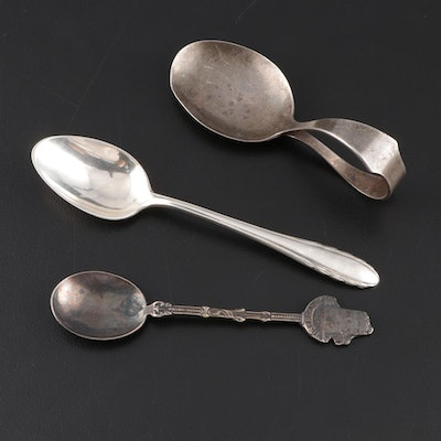 """Frank M. Whiting Sterling Spoon with Gorham """"Lyric"""" and Dutch Silver Plate"""