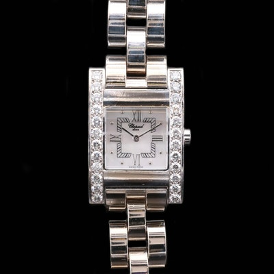 Chopard Your Hour 2.04 CTW Diamond and 18K White Gold Quartz Wristwatch