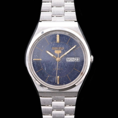 Vintage Seiko 5 Stainless Steel Automatic Wristwatch