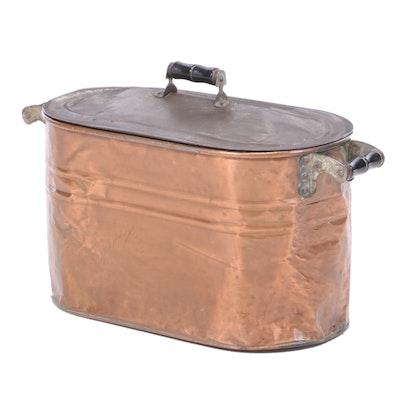 Lidded Copper Boiler Pot