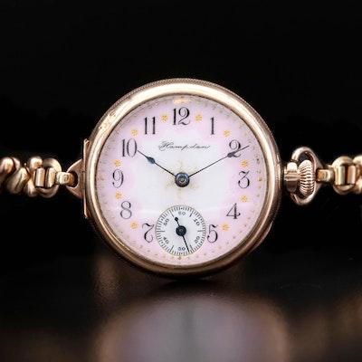 Antique Hampden Convertible Gold Filled Wristwatch, 1904