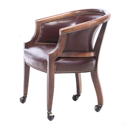 George III Style Mahogany-Stained Office Tub Chair