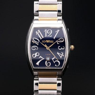 Schweiss Swiss Made Two Tone Stainless Steel Wristwatch