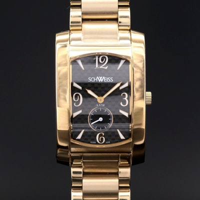 Schweiss Swiss Made Gold Tone Stainless Steel Quartz Wristwatch