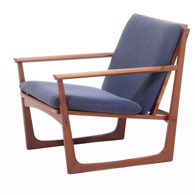 Juul Kristensen Danish Modern Teak Lounge Chair