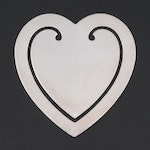 Tiffany & Co. Sterling Silver Heart-Shaped Bookmark