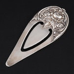 S. Kirk & Son Sterling Silver Rose Repoussé Bookmark, 1921-1940