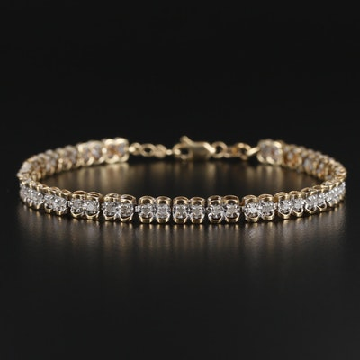 10K Yellow Gold 1.04 CTW Diamond Line Bracelet
