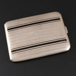 Newburyport Silver Co. Sterling Silver Cigarette Case, Early 20th Century