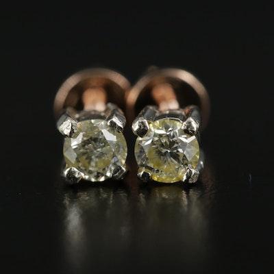 14K 0.72 CTW Diamond Studs