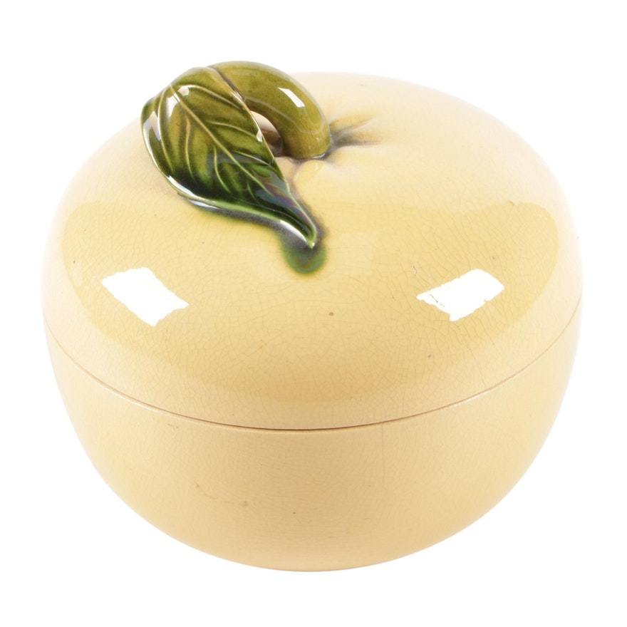 East Asian Earthenware Squash Covered Dish