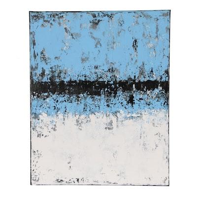 "Suzzanna Frank Acrylic Painting ""Last Snowfall of Spring"""