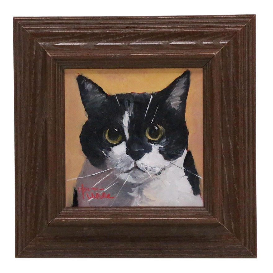 Norma Wilson Oil Painting of Cat