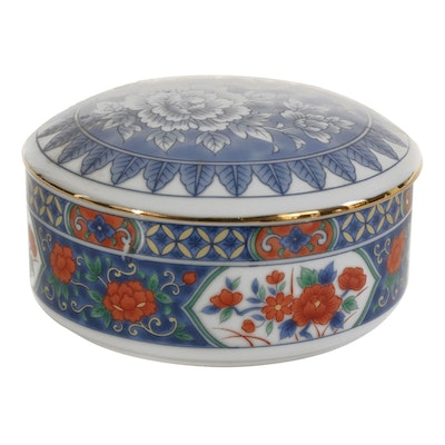 Tiffany & Co. Japanese Imari Style Trinket or Powder Box, Late 20th Century