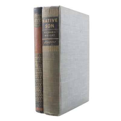 """First Edition """"Native Son"""" with Later Edition """"Black Boy"""" by Richard Wright"""
