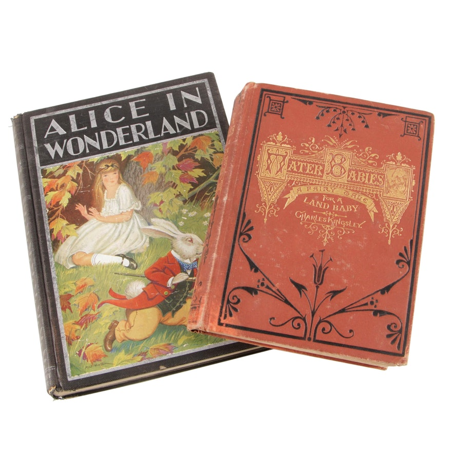 """1881 """"The Water-Babies"""" by Charles Kingsley with 1932 """"Alice in Wonderland"""""""