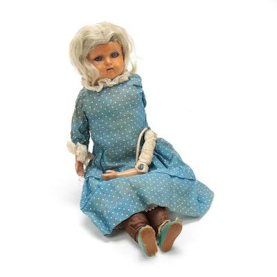 K & R, Kämmer & Reinhardt Leather Body Doll, Antique
