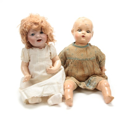 Porcelain and Composite Dolls, Mid-20th Century