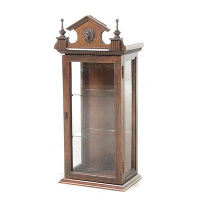 Victorian Style Wood and Glass Display Cabinet