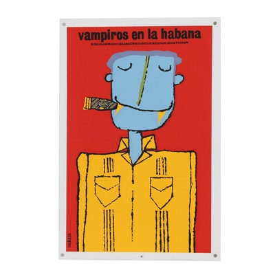 """Eduardo Muñoz Bachs Serigraph Film Poster """"Vampiros en La Habana"""""""