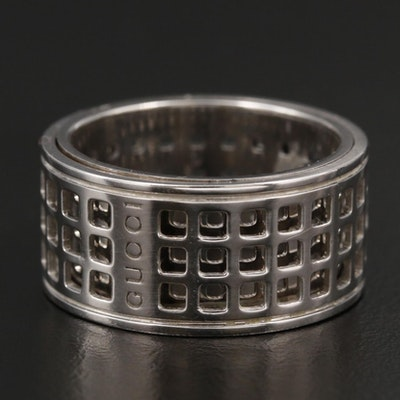 Gucci 18K White Gold Spinner Ring