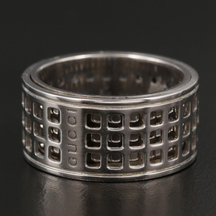 Gucci 18K White Gold Spinner Ring