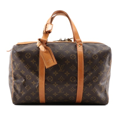 Louis Vuitton Sac Souple in Monogram Canvas and Vachetta Leather, Vintage