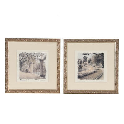 Alan Blaustein Offset Lithographs of Italian and Portuguese Gardens