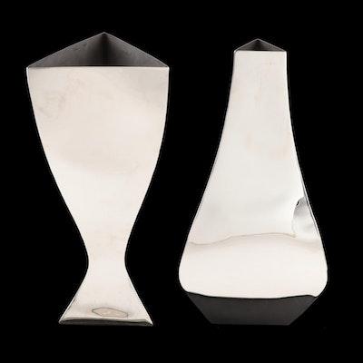 "Michael Aram ""Relationship"" Modernist Metal Vases, Late 20th Century"