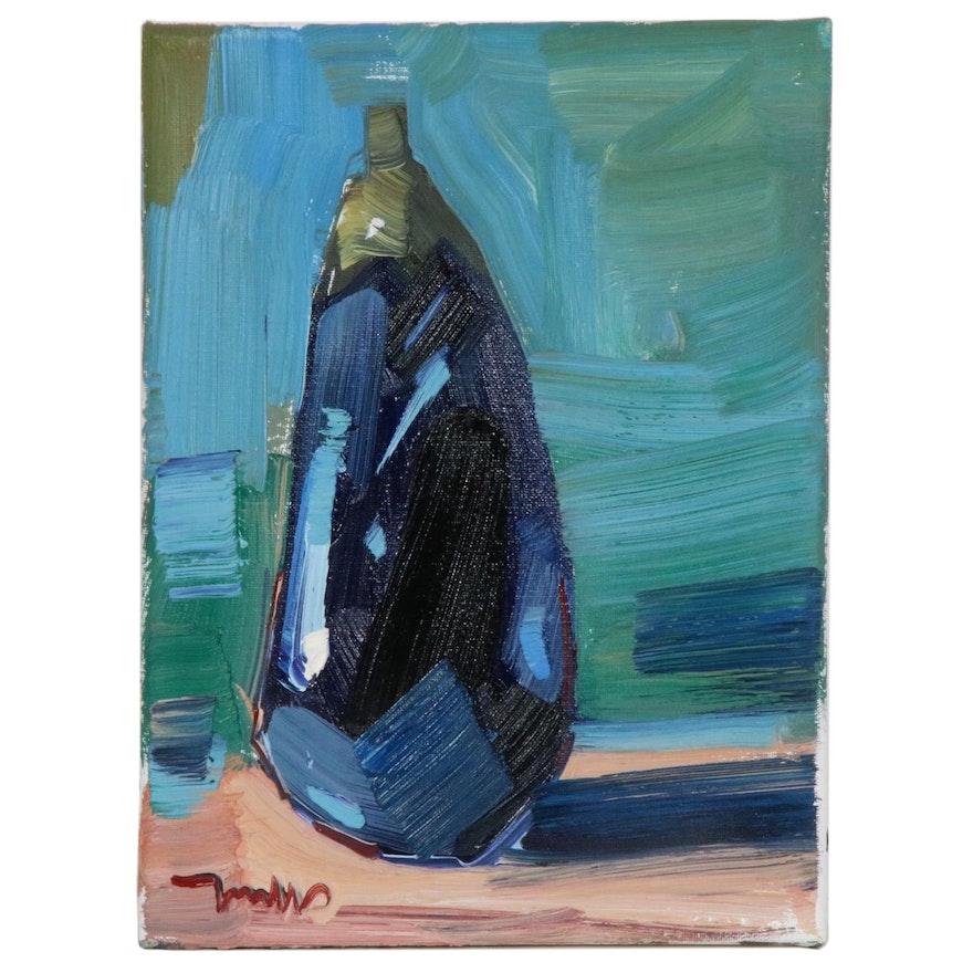 """Jose Trujillo Oil Painting """"Eggplant"""""""