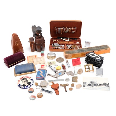 Presentation Boxes of Men's Jewelry, Organization Pins, Pocket Knives and More