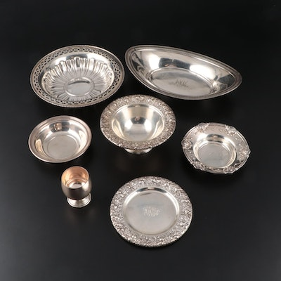 Whiting and Meridian Sterling Silver Serveware, Late 19th to Mid 20th Century