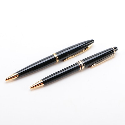 Waterman and Montblanc Meisterstück Retractable Head Ballpoint Pens