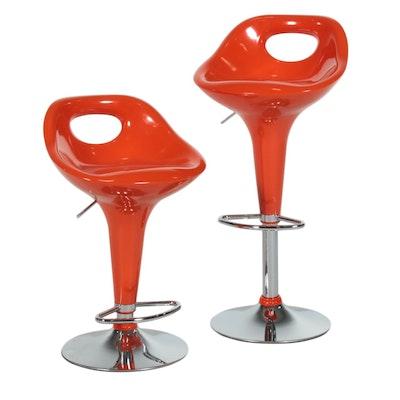 Modern Style Molded Fiberglass Adjustable Barstools