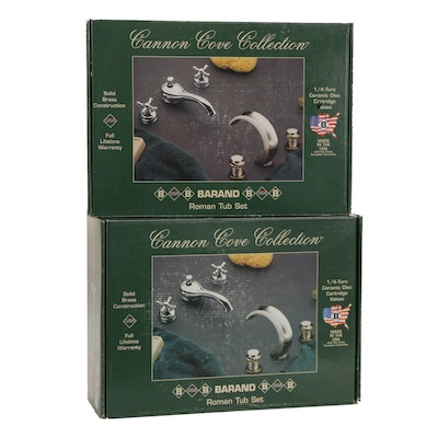 Barand Cannon Cove Collection Pewter Finish Brass Roman Tub Sets