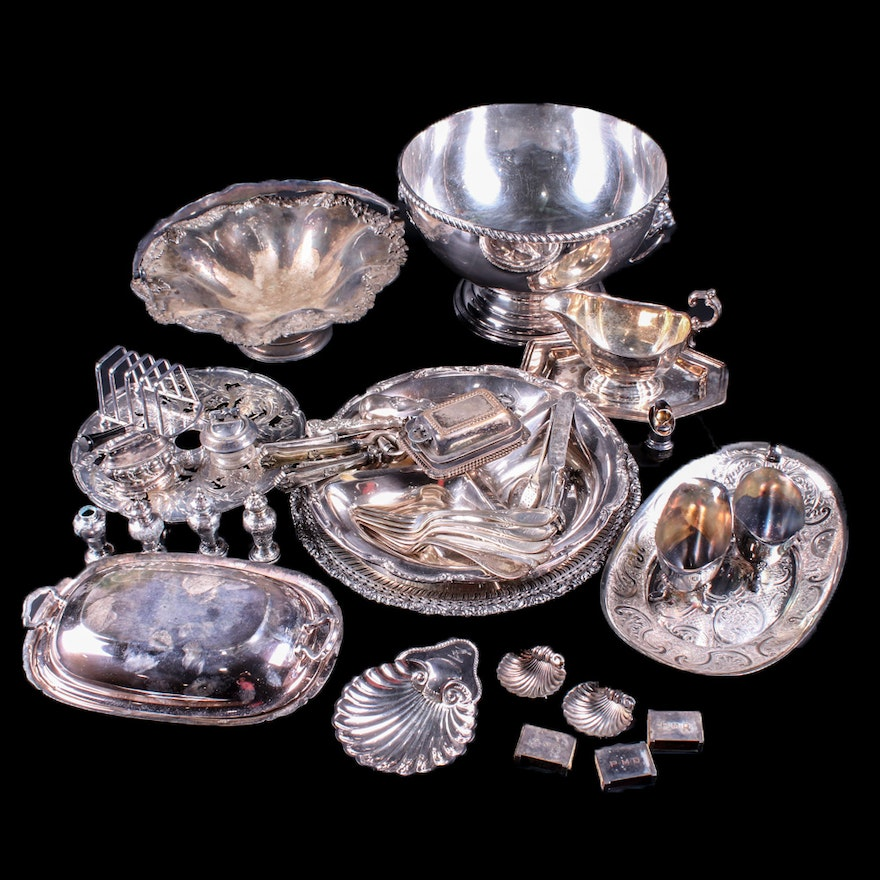 Reed & Barton and Other Silver Plate Serveware and Table Accessories