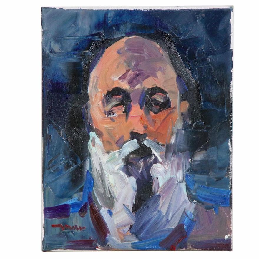 "Jose Trujillo Oil Painting ""The Gentleman"""