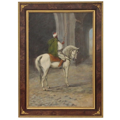 Oil Painting of Middle Eastern Horseman