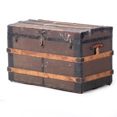 Late Victorian Steamer Trunk