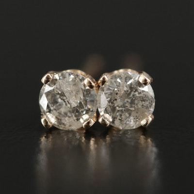 14K Gold 0.28 CTW Diamond Stud Earrings