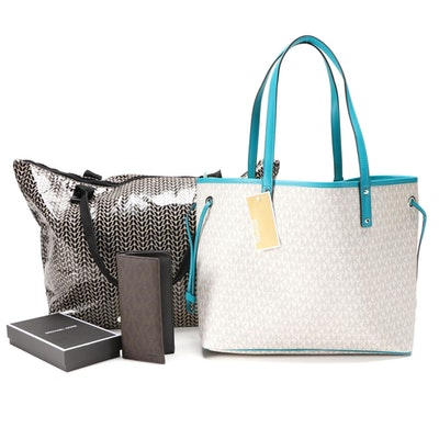 MICHAEL Michael Kors Reversible Tote, Rock Flower Paper Laminated Tote and More