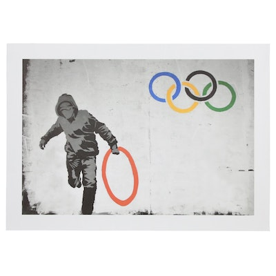 "Giclée after Banksy ""Stolen Olympic Ring"""