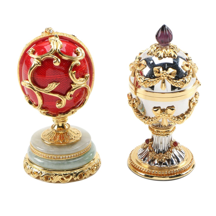Fabergé Decorative Eggs Including The Imperial Collection Egg with Case