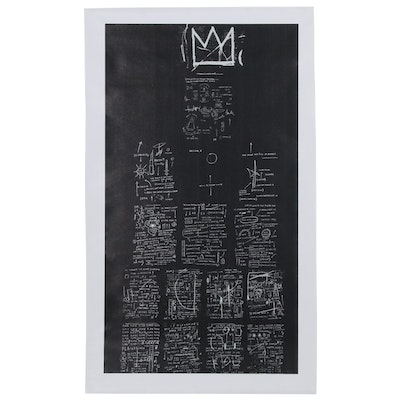 "Giclée after Jean-Michel Basquiat ""Tuxedo"""