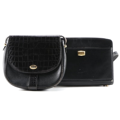 Bally Black Leather Crossbody Bags