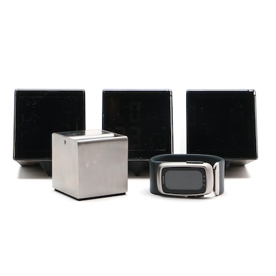 Cube Alarm Clocks, Blomus Stainless Steel Ashtray and Mini Motion Watch